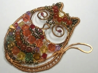 Wired4Style Wire and Beads Cat