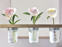 With Lovely Mason Jar Vase Shelf