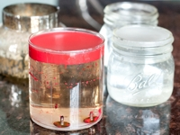 Yellow Brick Home Remove Old Wax from Jars
