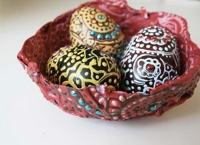 alisa burke Painted Eggs in Nests