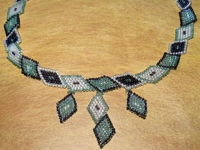 biCer Bead Diamond Necklace