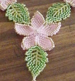 craftster Beaded Leaves