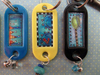 craftster Collaged Keyrings