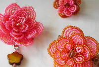 craftster French Beaded Flower Jewelry