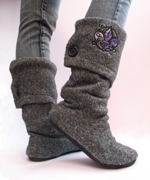 craftster Upcycled Sweater Boots