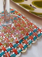 craftstylish Woven Button Coaster
