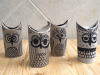creative jewish mom Toilet Paper Roll Owls