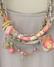etsy ATLIART Fabric Necklace
