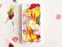 etsy Clare McGibbon Mobile Case with Pressed Flowers