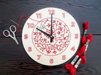 etsy CuriousDoodles Embroidered Clock