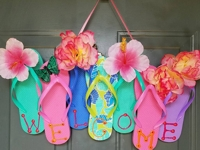 etsy DanniDoesBows Flip Flop Wreath