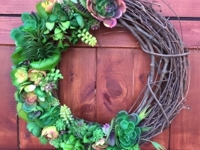 etsy DoGoodDecor Succulent Wreath