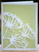 etsy PandPPaperworks Paper Cut Poppy Card
