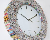 etsy colorstorydesigns Recycled Magazine Clock