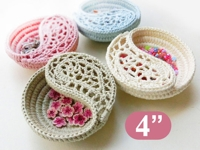 etsy goolgool Little Crochet Yin Yang Basket