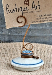 etsy rustiqueart Ceramic Lid Photo Holder