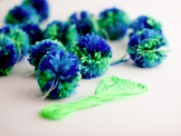 flax and twine Pompoms in Bulk