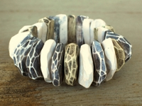 flickr genevieve williamson Carved Polymer Clay Bracelet