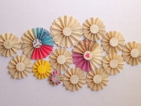 flickr harus paper celebration Folded Paper Flowers Wall Art