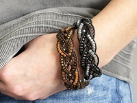 gloria fort Braided Bead Bracelet