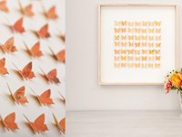idee Picture with 3D Butterflies