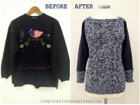 inspiration and realisation Sweater Re-Knitted