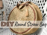 instructables Auroris Round Straw Bag