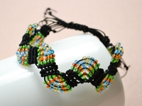 instructables DasiyD Macramé Wave Bracelet with Beads