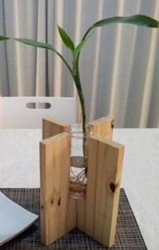 instructables IsabelaA6 Wooden Vase Recycled Jar