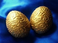 instructables Muhaiminah Faiz Gold Decorated Eggs