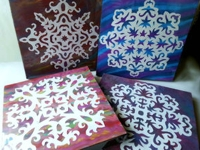 instructables Muhaiminah Faiz Snowflake Wall Art
