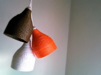 instructables Tarun Upadhyaya Paper Yarn Lamp