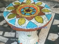 instructables anusha78 Basket Weave Table from Paper