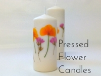 instructables bristlebot Candle with Pressed Flower