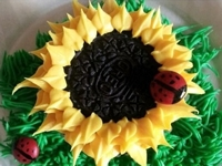 instructables danlynne07 Cookie Sunflower Cupcake Decoration