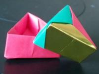 modulare dreieckige origamischachtel unikatissimas. Black Bedroom Furniture Sets. Home Design Ideas