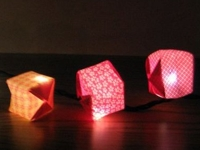 instructables vasilena Origami Light Garland