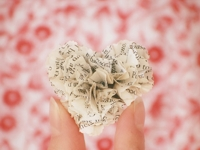 joy ever after Ruffled Book Pages Heart