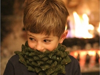 knitty Nim Teasdale Knitted Christmas Tree Cowl