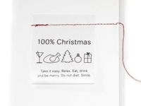 kreativ-Ideen Laundry Label Christmas Card