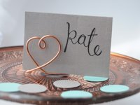 life and lisa Place Card Holders from Wire