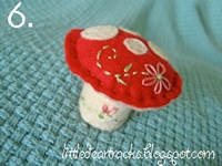 little dear tracks Mushroom Pincushion