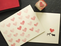 little monster Heart Stamps Valentine Card