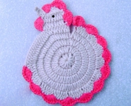 make handmade Crochet Hen Potholder