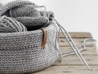 mxliving Crocheted Knitting Stitch Basket