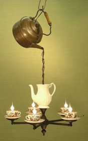 pourtensious Tea Party Chandelier