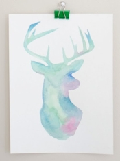 ps heart Watercolour Stencil Wall Art