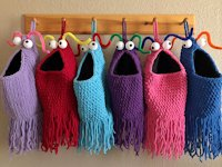 ravelry Carissa Browning Crocheted Alien Storage Bags