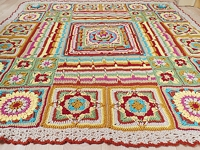 ravelry Catherine Bligh Colourful Crochet Blanket