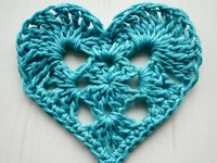 ravelry Crochet Tea Party Crocheted Granny Style Heart